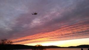 Helikopter mot himmel, 24.5.2015